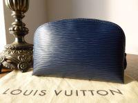 Louis Vuitton Cosmetic Zip Pouch in Epi Indigo