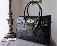 Mulberry Classic Heritage Bayswater in Black Printed Leather - As New*