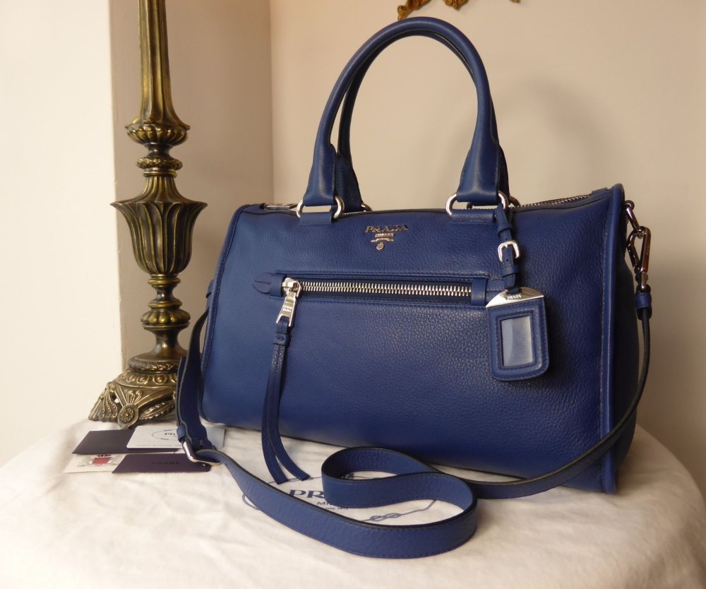 a892a29221cc1e Prada Bauletto in Vitello Phenix Bluette - SOLD