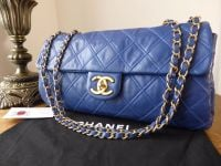 Chanel Diamond Stitch East West Flap in Cobalt Blue Calfskin