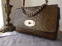 Mulberry Medium Cecily in Iridescent Metallic Gold Snake Print