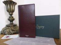 Mulberry Coat Wallet in Oxblood Smooth Calf - New