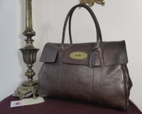 Mulberry Classic Heritage Bayswater in Chocolate Natural Leather with Brass Hardware
