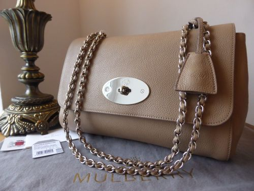374fc743291 Mulberry Medium Lily in Mushroom Grey Small Classic Grain - SOLD
