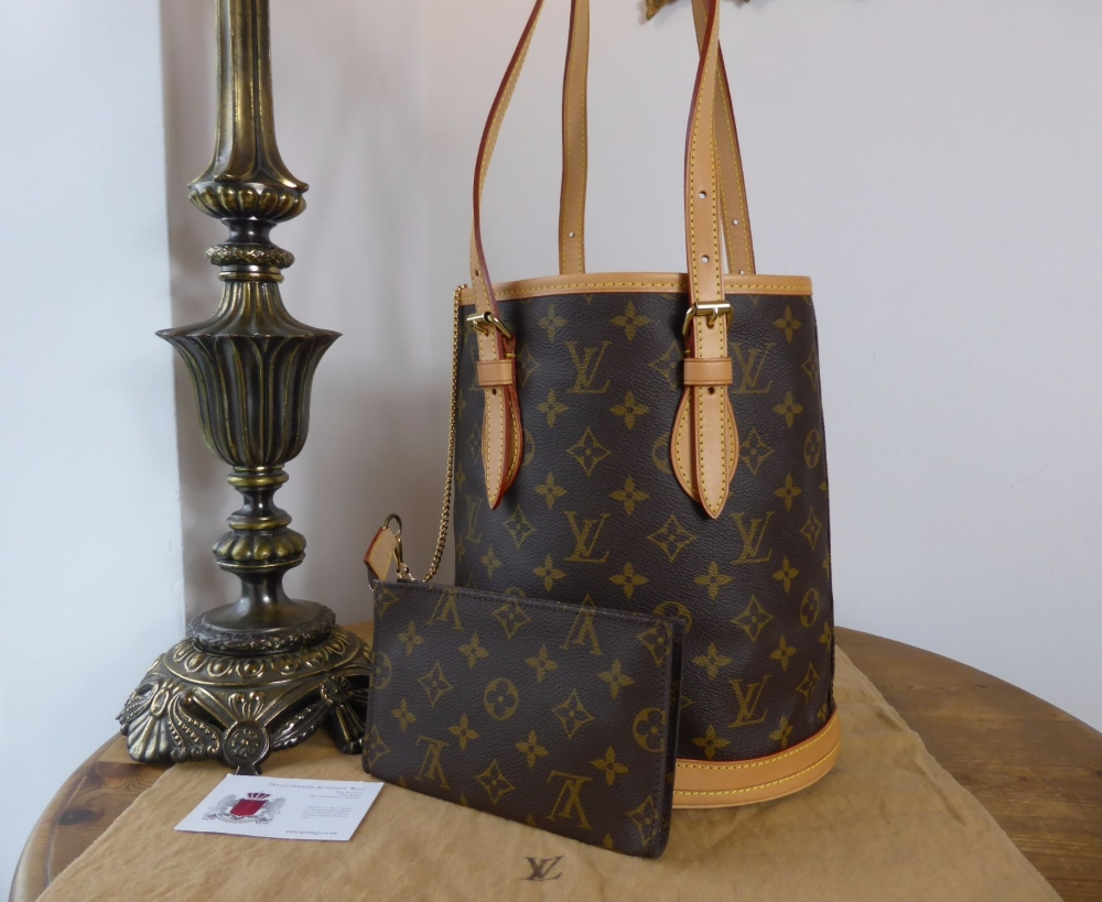Louis Vuitton Vintage Petit Marais Bucket Bag PM in Monogram