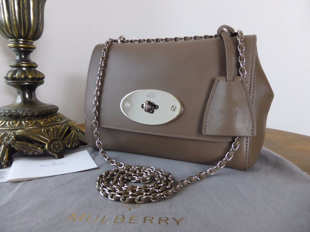 Mulberry Regular Lily in Taupe Soft Tan Leather with Silver Hardware