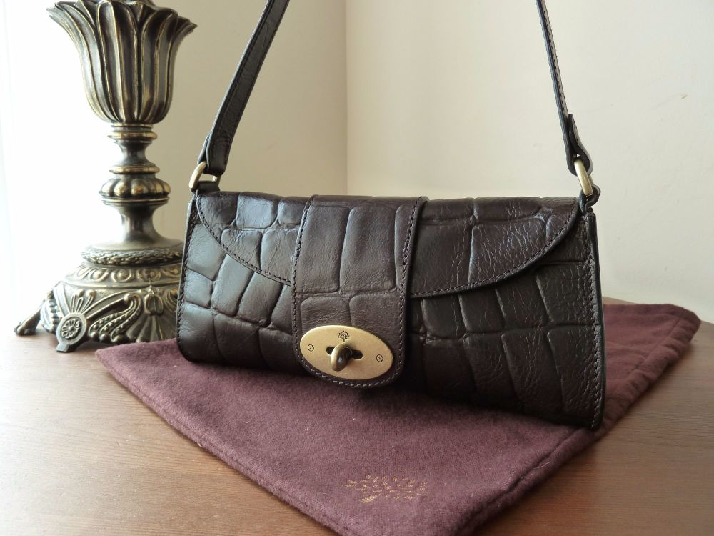 Mulberry Zinia in Chocolate Printed Vegetable Tanned Leather