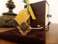 Louis Vuitton 'A La Folie' Gold and Resin Bracelet Cuff - As New