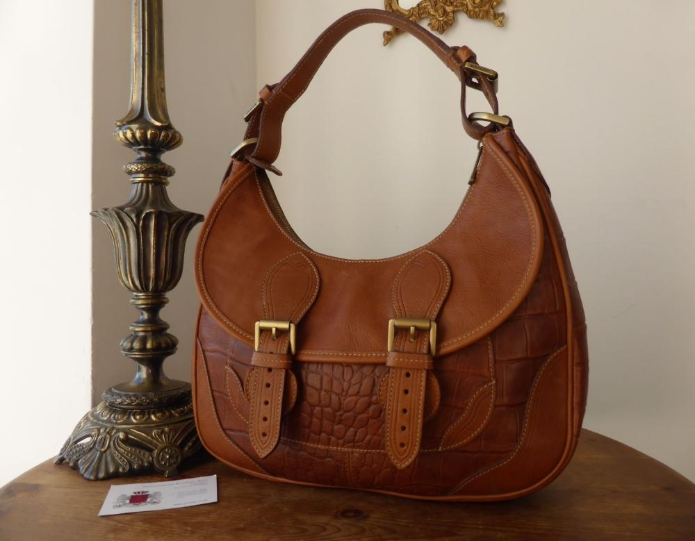 Mulberry Vintage Jayde Shoulder Hobo in Oak Kenya Leather