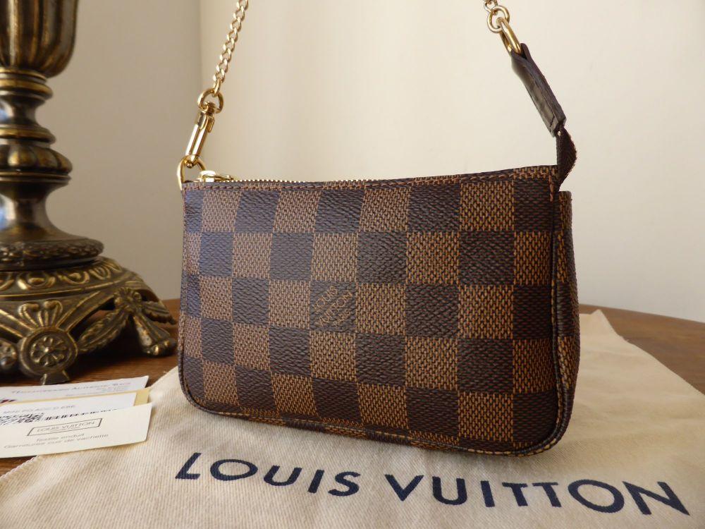 Louis Vuitton Mini Pochette Accessoires in Damier Ebene