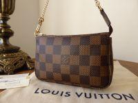 Louis Vuitton Mini Pochette Accessoires in Damier Ebene - As New*