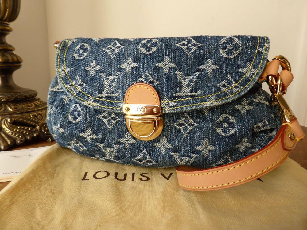 Louis Vuitton Denim Pleaty Pochette
