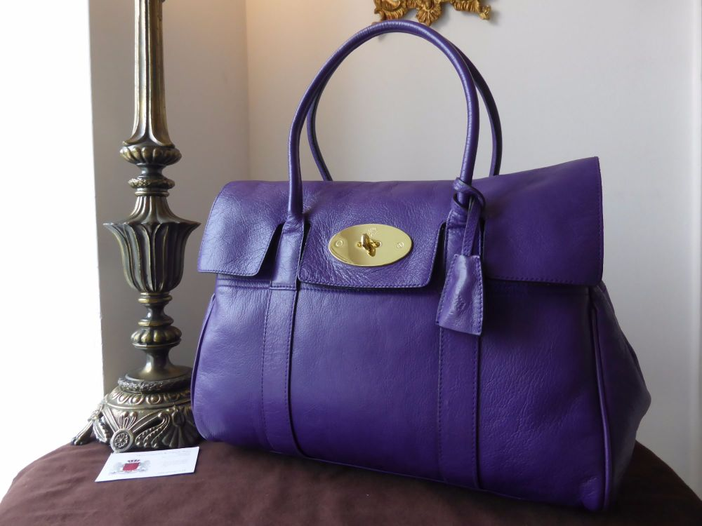 Mulberry Classic Heritage Bayswater in Blueberry Glazed Goat