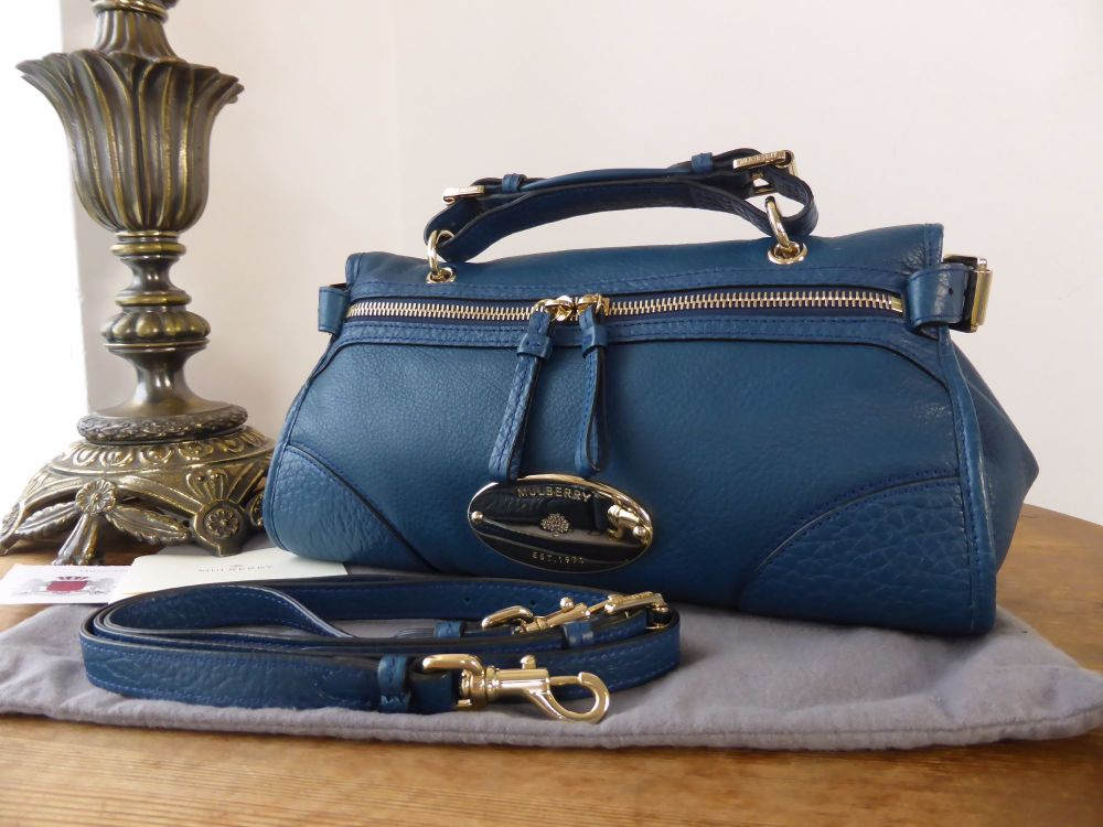 Mulberry Mini Taylor in Petrol Soft Matte Leather