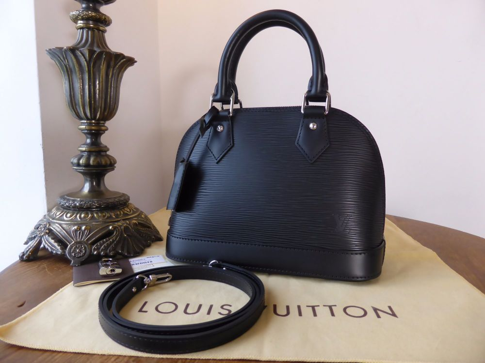 Louis Vuitton Alma BB in Black Epi Leather As New