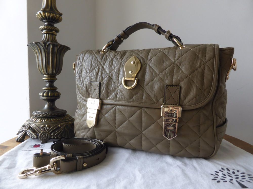 Mulberry Tillie Satchel in Birds Nest Quilted Nappa