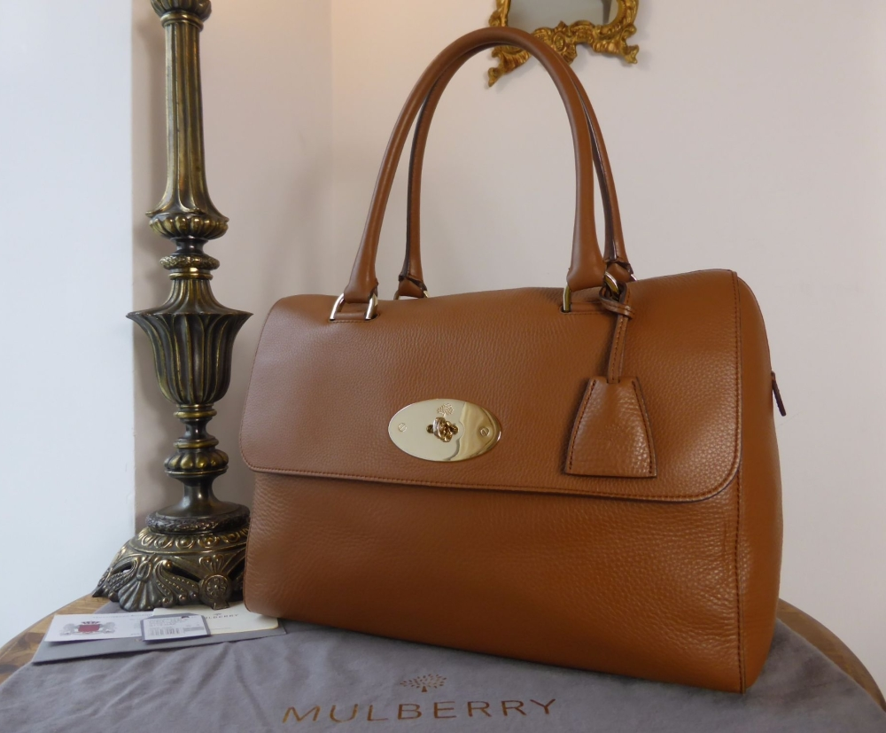 Mulberry Large Del Rey in Deer Brown Oak Spongy Pebbled Leather