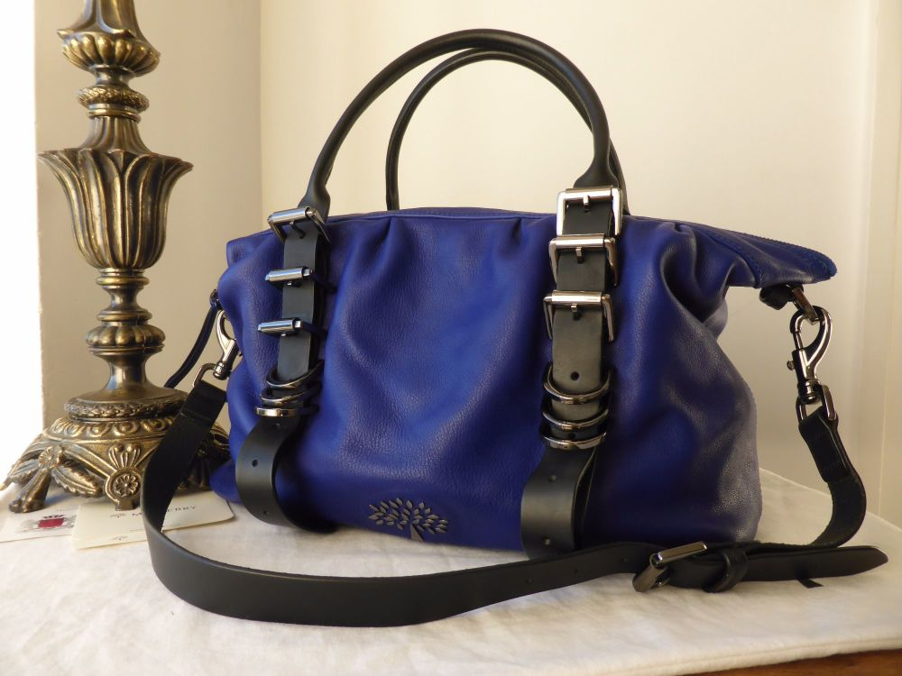 Mulberry Mila Small Clipper in Electric Blue Soft Matte Leather