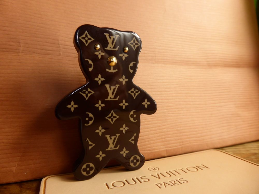Louis Vuitton Teddy Brooch Pin in Monogram Resin