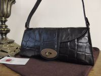 Mulberry Vintage Zinia in Black Congo Leather with Bronze Hardware