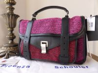 Proenza Schouler PS1 Medium Satchel in Berry Tweed and Leather - New