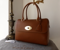 Mulberry Large Del Rey in Oak Natural Leather and Felt Liner - New