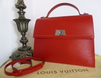 Louis Vuitton Sevigne GM in Epi Carmine - As New