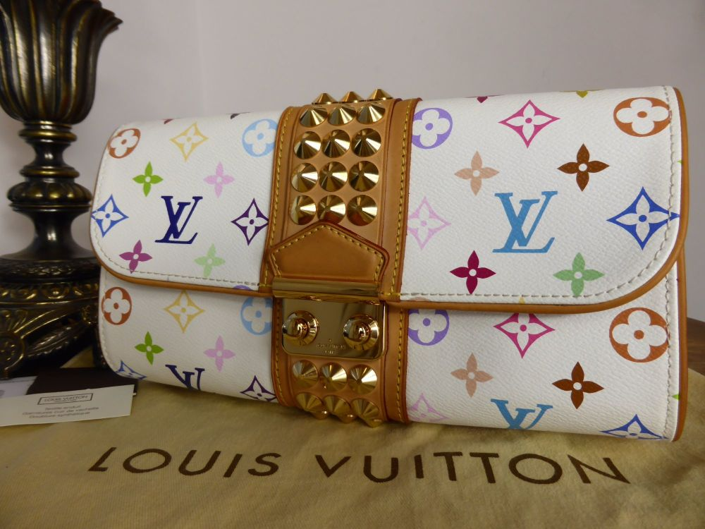Louis Vuitton Courtney Clutch in Multicolore Monogram White