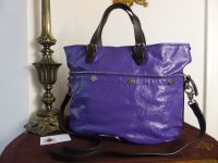 Mulberry Mitzy Tote in Blueberry Wrinkled Patent Leather