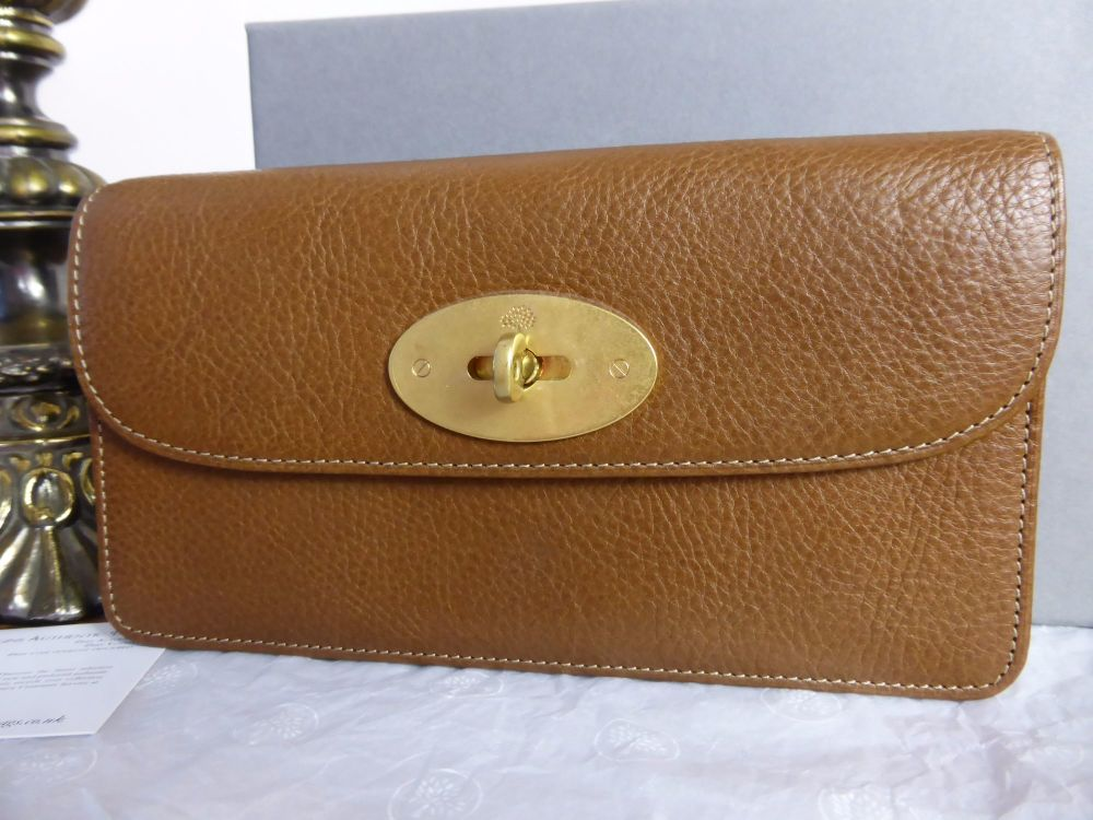 Mulberry Long Locked Purse in Oak Natural Leather - New