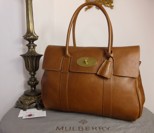 50e0e5396f95 Mulberry Classic Heritage Bayswater in Oak Natural Leather - As New