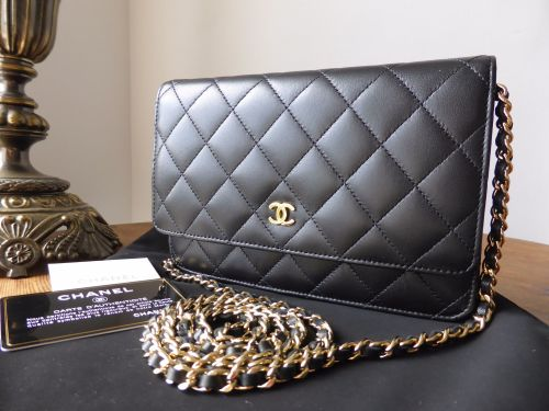 Chanel WOC Wallet on Chain in Black Lambskin with Gold Hardware ... f297ab43c50fd