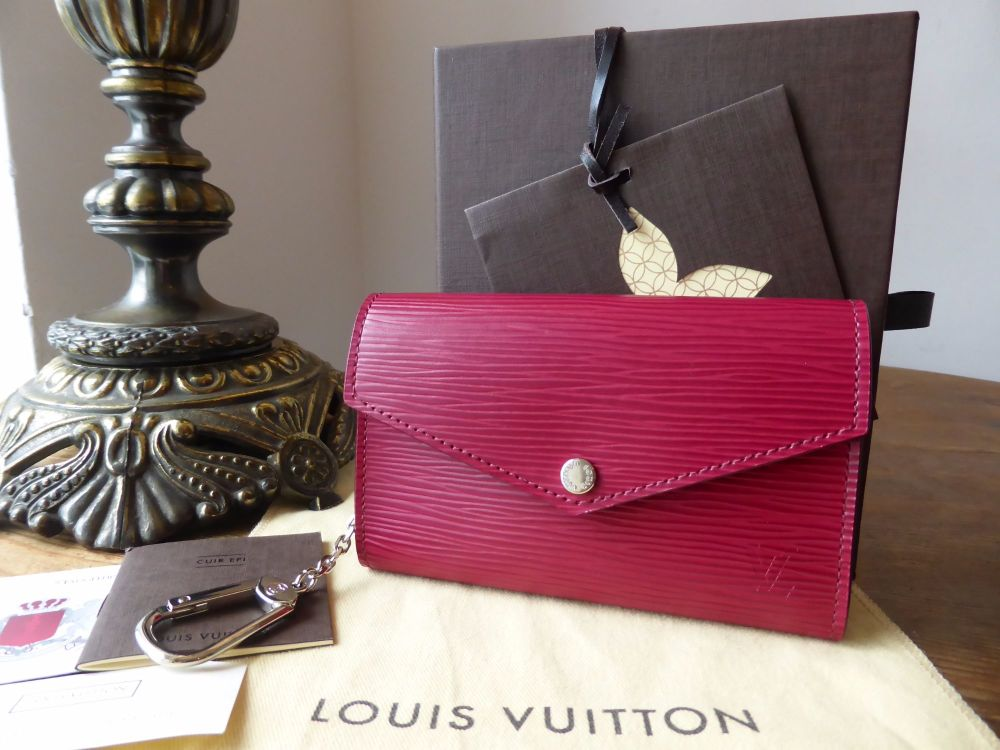 Louis Vuitton Key Pouch in Fuchsia Epi Leather