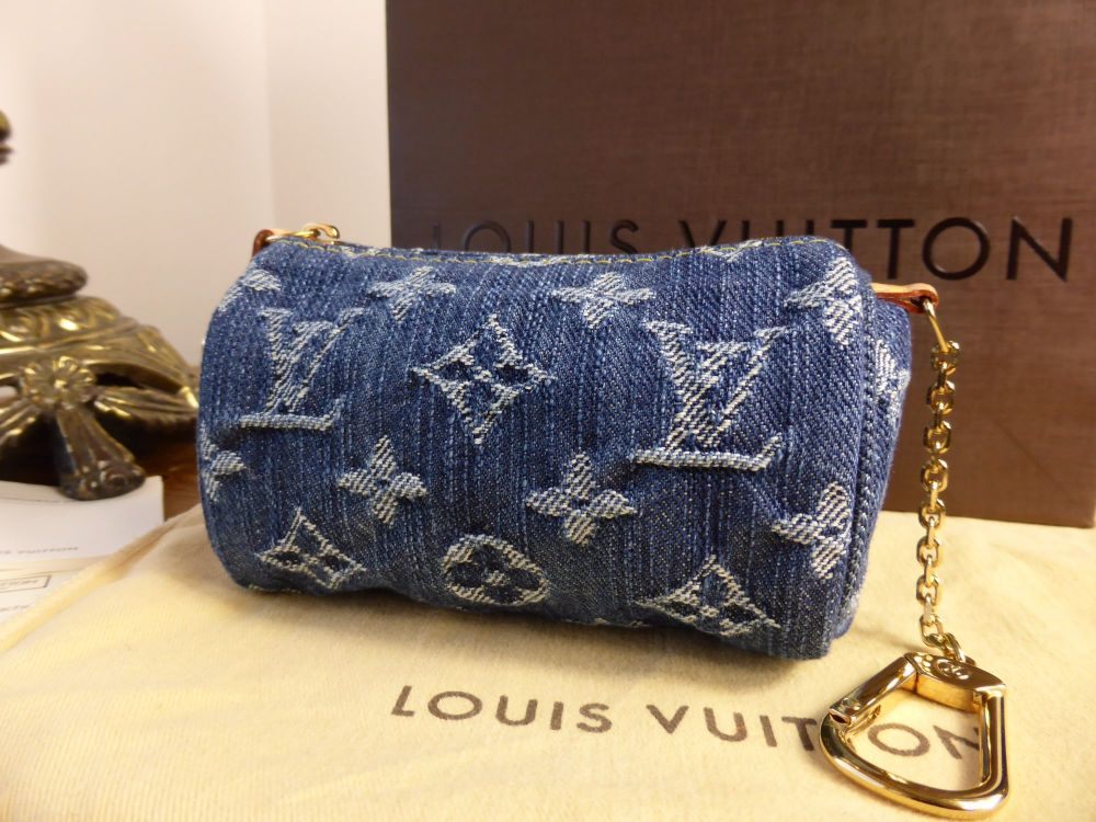 Louis Vuitton Mini Speedy Pochette in Blue Monogram Denim - New*