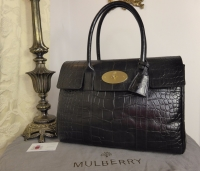 Mulberry Classic Heritage Bayswater in Black Printed Leather