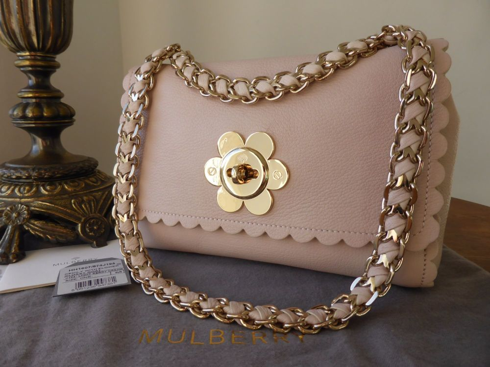 Mulberry Cecily with Flower Clasp in Light Berry Cream Glossy Goat - As New