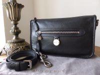Mulberry Somerset Small Satchel Shoulder Messenger in Black Pebbled Leather