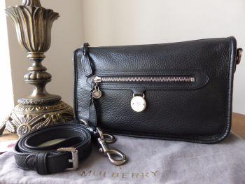 878410f062 Mulberry Somerset Small Satchel Shoulder Messenger in Black Pebbled Leather  - SOLD