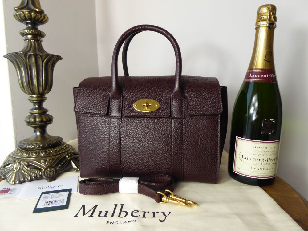 Mulberry Small Bayswater in Oxblood Grained Vegetable Tanned - New