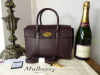 Mulberry Small Bayswater in Oxblood Grained Vegetable Tanned Leather - New