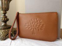 Mulberry Effie Zip Pochette Wristlet in Oak Soft Spongy Pebbled Leather - New