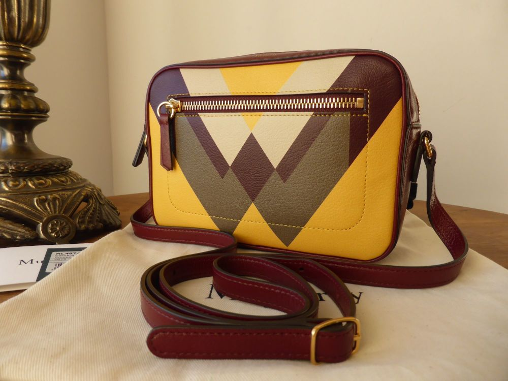 Mulberry Camera Bag in Oxblood, Sunflower, Chalk and Clay - New