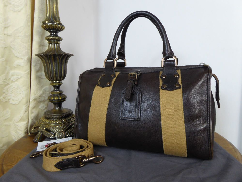 Mulberry Vintage Euston in Chocolate Darwin Leather with Bronze Hardware (S