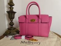 Mulberry Small New Bayswater in Candy Pink Small Classic Grain - New