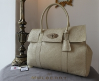 Mulberry Classic Bayswater in Snowball Grainy Patent Leather - As New*