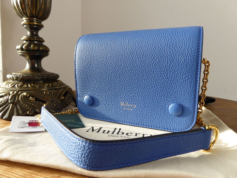 Mulberry Small Clifton in Porcelain Blue Small Classic Grain - New*