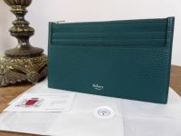 Mulberry Travel Card Holder in Ocean Green Small Classic Grain - New
