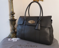 Mulberry Classic Heritage Bayswater in Graphite Grey Pebbled Leather