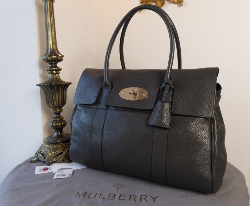 Mulberry Classic Heritage Bayswater in Graphite Grey Pebbled Leather 75fb7eab689e3
