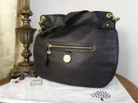 Mulberry Somerset Shoulder Hobo in Black Pebbled Leather